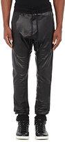 En Noir Men's Leather Jogger Pants-BLACK