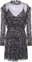 IRO Tinkle Layered Printed Georgette Mini Dress