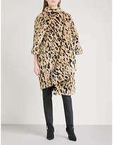 Balenciaga Pulled Opera faux-fur coat