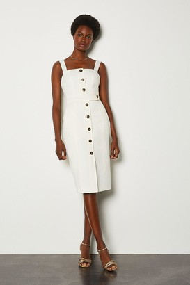 Karen Millen Square Neck Button Detail Dress