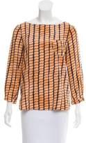 Kelly Wearstler Silk Long Sleeve Blouse