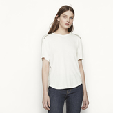 Maje T-shirt with ladder stitching