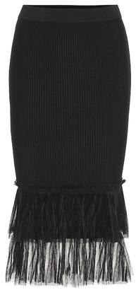 Jonathan Simkhai Stretch-knit midi skirt