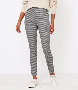 LOFT Curvy Side Zip High Waist Skinny Leggings in Check