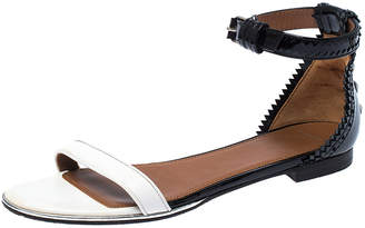 Givenchy Monochrome Patent Leather Ankle Strap Sandals Size 38