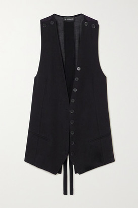 Ann Demeulemeester Button-detailed Cotton-blend Vest - Black