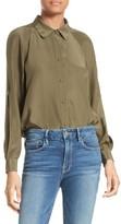 Frame Women's Split Sleeve Silk Blouse