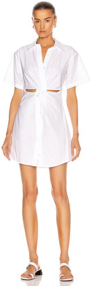 Alexander Wang Crisp Poplin Mini Shirt Dress in White | FWRD