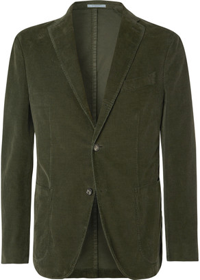 Boglioli Sand K-Jacket Unstructured Cotton-Blend Corduroy Suit Jacket