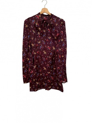 ATTICO Burgundy Silk Dresses