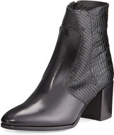 Andre Assous Miranda Embossed Leather Bootie, Black
