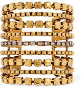 Erickson Beamon Awaken Gold-plated Swarovski Crystal Cuff - one size