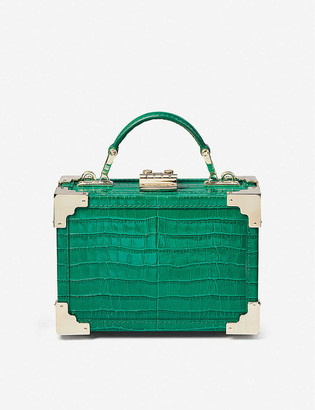 Aspinal of London The Micro Trunk croc-embossed leather bag