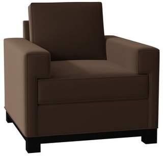 Poshbin Grace Armchair Poshbin Body Fabric: Bella Berry, Leg Color: Black, Cushion Fill: Soft
