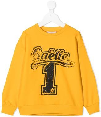 Gaelle Paris Kids Logo Crew Neck Sweatshirt