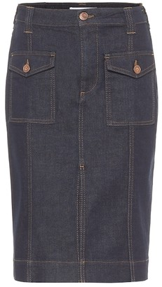 See by Chloe High-rise denim pencil skirt