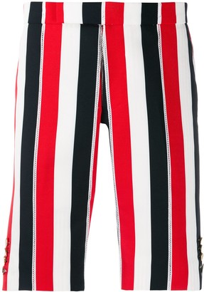 Thom Browne Mid-Rise Slim Shorts
