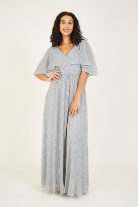 Yumi Silver Overlay Maxi Dress