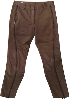 Dries Van Noten Burgundy Cotton Trousers