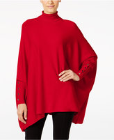 Alfani Petite Turtleneck Poncho Sweater, Only at Macy's