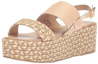 Kaanas Women's Montpellier Braided Open Toe Sling Back Espadrille Wedge Sandal