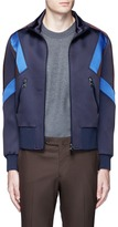 Neil Barrett 'Retro Modernist' colourblock blouson satin jacket