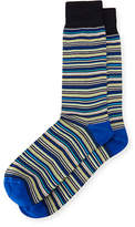Neiman Marcus Striped Cotton Socks