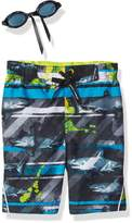 ZeroXposur Little Boys' Frenzied Stripes Swim Trunk
