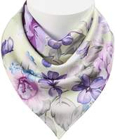 Colorpole Women's Floral Printing Square Scarf 100% Polyester Silk Feeling 1919 Inch