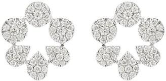 Dana Rebecca Designs 14kt white gold Taylor Beth diamond cutout stud earrings