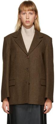 AMOMENTO Brown Three Button Jacket