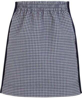 Fendi Gingham Pencil Skirt