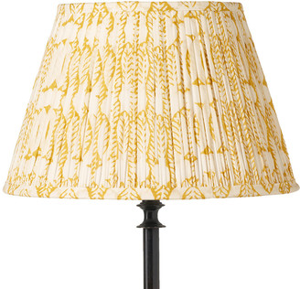 OKA 45cm Pleated Daun Cotton Lampshade - Turmeric