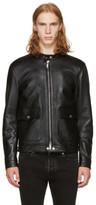 DSQUARED2 Black Leather Biker Jacket
