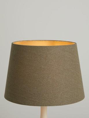 John Lewis & Partners Glitter Tapered Lampshade, Stone