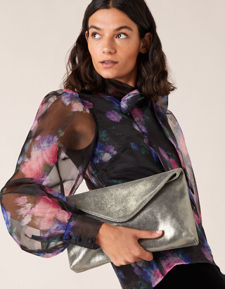 Under Armour Metallic Leather Oversized Clutch Bag