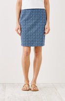 J. Jill Printed Knit Pencil Skirt