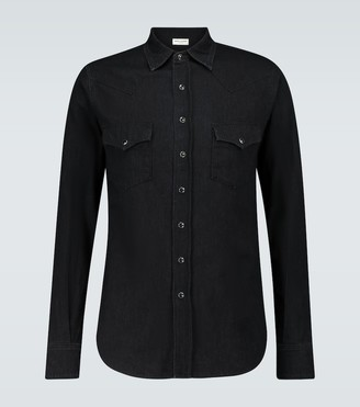 Saint Laurent Long-sleeved denim shirt