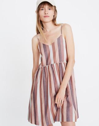 Madewell Ruffle-Waist Babydoll Cami Dress