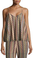 Design Lab Lord & Taylor Patterned Trapeze Camisole