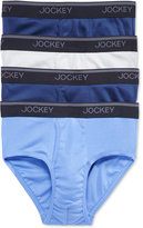 Jockey Men's Tagless StayCool Briefs, 4 Pack