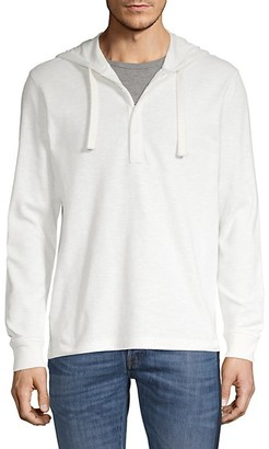 Saks Fifth Avenue Hooded Cotton Henley