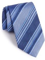 David Donahue Men's Stripe Linen & Silk Tie