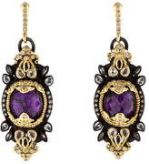 Armenta Diamond, Sugilite & Sapphire Old World Earrings