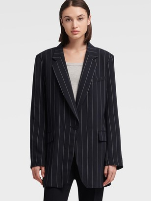 DKNY Boxy Striped Blazer