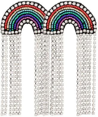 Venessa Arizaga multicoloured Rainbow crystal and rhinestone earrings