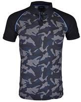 Armani Jeans Men's Slim Fit Stretch Pique Camo Polo Shirt