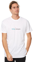 Stussy Designs Line Mens Tee White