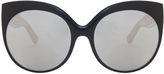 Linda Farrow Luxe Platinum Cateye Sunglasses