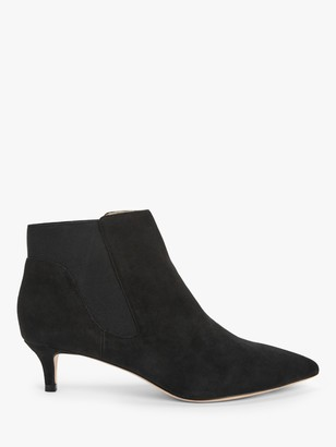 Boden Elsworth Kitten Heel Pointed Toe Shoe Boots, Black